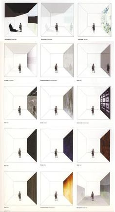architectural drawings - rooms and their materials