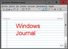 Espacio de trabajo de Windows Journal