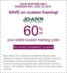 save on custom framing off your entire custom framing order store jo ann fabrics scope entire stroe ends on get more deals get our android mobile