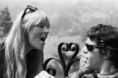 Lou Reed and Nico. I heard that they hated each others' guts
