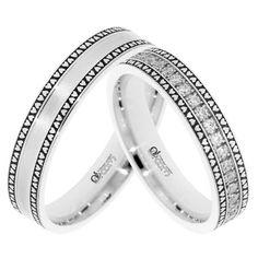 Incrustate de jur imprejur cu cristale sau optional cu diamante de 1.25 mm, verighetele ATCOM Lux BRETTA reprezinta eleganta, rafinament,iubire. Finger, Wedding Rings, Engagement Rings, Wedding Dresses, Jewelry, Enagement Rings, Bride Dresses, Bridal Gowns, Jewlery