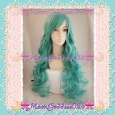 "Teal Wig~Mermaid Long Layered*Curly Soft! Teal Long Layered Curly Mermaid Hair Wig  MAKE OFFERS! Color: Please View Photos..Different Camera lens & Light Environment,etc. give different views..ACTUAL COLOR OF ITEM MAY SLIGHTLY VARY..  ❣80 Cm 32"" Long!! (Different head sizes could affect how long the wig appears when it is put on)  ❣Hooks inside wig are adjustable to fit most sizes! Material: High quality Japanese kanekalon fiber  AMAZING High quality  Natural Scalp Piece Lolita Wig,Scene…"