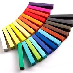 Coloration teinture cheveux craie crayon