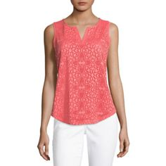 2c490bf18e628 Buy Liz Claiborne Lace Front Knit Tank Top at JCPenney.com today and Get  Your