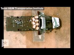 This is a slow motion, multi-angled test video from the Texas A&M Transportation Institute showing a truck crashing straight into a metal guardrail, which I'm presuming is experimental and the point of the video. This video is fascinating and incredible and captivating. I could watch it over and over again.