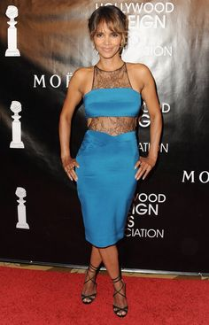 Pin for Later: Halle Berry Is 49 and Fabulous at a Pre-Birthday Banquet