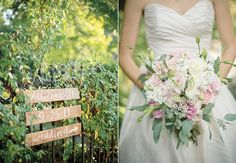 Signs and bouquets!