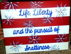 Painted canvas sorority craft for future little! #srattiness