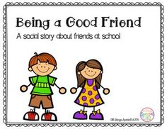 Need a social story about being a good friend at school? Download this freebie! For students with Autism or those who need help learning how to be a good friend at school, this social story can help. Being a good friend means: using nice words and voice, sharing toys, asking to play, and learning that friends will play with other friends.Tap the link to check out great fidgets and sensory toys. Check back often for sales and new items. Happy Hands make Happy People!!