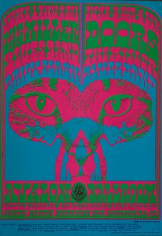 by Victor Moscoso . Avalon Ballroom -1967 Doors & Miller Blues Band Poster