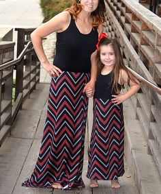 Pink Chevron Maxi Dress Set - Infant, Toddler, Girls & Women by CopyCat Couture #zulily #zulilyfinds