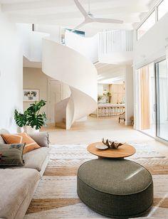 Kyal and Kara Living Room Decor, Living Spaces, Bedroom Decor, Natural Living, Kyal And Kara, Surf House, Beach House, Coastal Homes, Cheap Home Decor