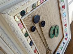 new listing! button and burlap:) Jewelry Organizers by Humble Bee Project