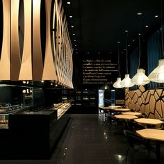 'VyTA Boulangerie' by Daniela Colli in Turin, Italy, luxury restaurant, expensive restaurants Design Bar Restaurant, Deco Restaurant, Luxury Restaurant, Restaurant Lighting, Modern Restaurant, Design Café, Cafe Design, Bakery Design, Design Kitchen
