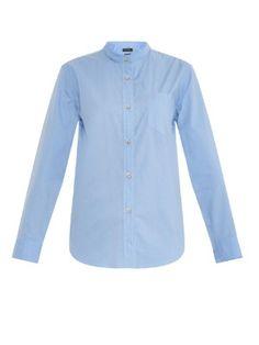 Wayne collarless cotton shirt | Isabel Marant | MATCHESFASHION.COM US