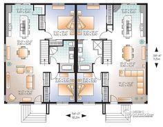 Détail du plan de Maison multi logements W2085-V3