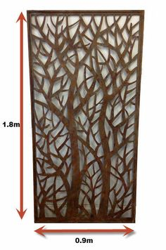DECORATIVE METAL SCREENS WALL ART GARDEN SCREENS