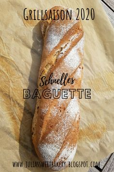 Schnelles Baguette - Grillsaison A delicious airy baguette for dipping or simply with butter and sal Quick Recipes, Pizza Recipes, Grilling Recipes, Vegetarian Recipes, Protein Breakfast, Breakfast Recipes, Barbecue, Igloo Cake, Sweet Bakery