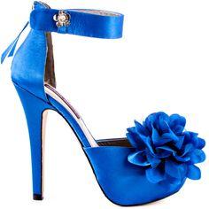 Diamond heels Blue brand heels Mojo Moxy