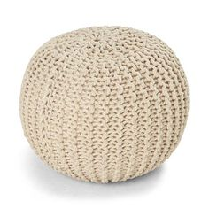 Image for Knitted Ottoman - Natural from Kmart