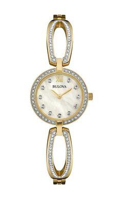 Brand New Bulova #98L225 Ladies Crystal watch #Bulova #DressFormal