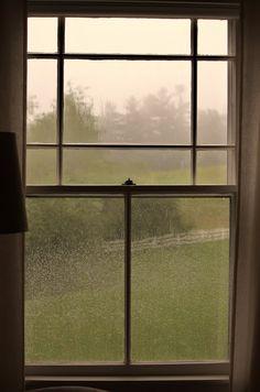 Rain through a window!