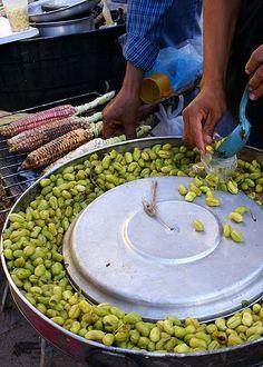 Garbanzos - street food in Mexico