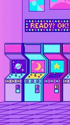 vaporwave art Wallpapers de Pixel Art V - vaporwave Kawaii Wallpaper, Pastel Wallpaper, Tumblr Wallpaper, Cool Wallpaper, Wallpaper Backgrounds, Iphone Wallpaper, Normal Wallpaper, Phone Backgrounds, Purple Aesthetic