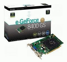 EVGA 512-P2-N738-LR GeForce 8400 GS 512MB DDR2 PCI-Express 1.0 Graphics Card by EVGA. $55.55. Amazon.com                The eVGA 512-P2-N738-LR NVIDIA e-GeForce 8400GS 512 MB PCI-E Graphics Card features 512 MB of 128 bit DDR2 memory with a 4.26 GB-per-second memory bandwidth. Based on NVIDIA unified architecture with GigaThread technology, the card offers full Microsoft DirectX 10 Shader Model 4.0 support, 16x full-screen anti-aliasing, and true 128-bit floatin...