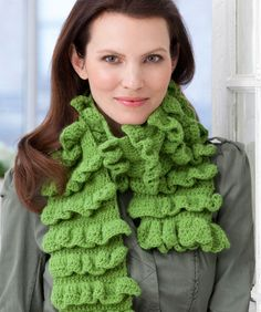 Rows of Ruffles Scarf: free easy level pattern