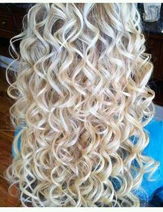 Blonde Curly Perm Blonde Curly Perm Sure, the bushy perms of the m Curly Perm, Long Curly Hair, Wavy Hair, Curly Hair Styles, Short Perm, Super Curly Hair, Loose Spiral Perm, Spiral Perms, Perms Before And After