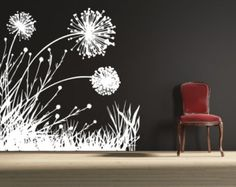 Dandelion Wall Decal Floral Wall Decal Dandelion A154