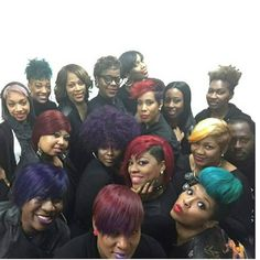 A few of the members from Patric Bradley's Team Hollywood.One of the most dynamic teams every assembled in the industry. Im also looking forward to the arrival of potential new members in the next few months. We look forward to coming to your city your state to share valuable information in the art of cutting coloring creative stylingbusiness and even shadow programs just to name a few..We will have pics on our site with mini bio so you can see who's close to your city . Greatness attracts…