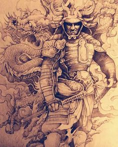 Hello , look for a back to adopt this Samurai at the convention of Montpellier on May Contact in Mp Mail: … by chris_mandl Japanese Mask Tattoo, Japanese Dragon Tattoos, Japanese Tattoo Designs, Japanese Sleeve Tattoos, Samurai Drawing, Samurai Artwork, Oni Maske, Samurai Warrior Tattoo, Tattoos Familie