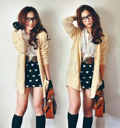 My new obsession........to dress and look like a nerdy cute Asian girl!