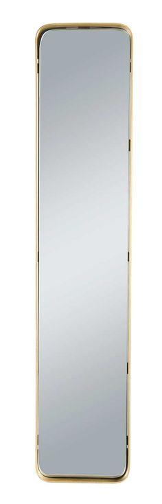 Miroir laiton de Signature pour Déco Française. Rectangulaire. Hauteur : 15 cm ; largeur : 76 cm ; profondeur : 4 cm. #miroir #laiton #brass #mirrors #interiordesign #décoration #française #deco