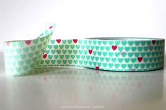 Hey, I found this really awesome Etsy listing at http://www.etsy.com/listing/105722592/aqua-hearts-washi-tape-with-red-hearts