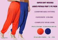 Ethnic Bottomwear - Patiala Pants Fabulous Viscose Women's Patiala Pant Combo Fabric: Viscose 