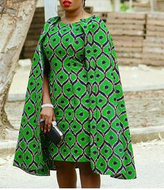 African Clothing/ African Print Cape Dress/ African Dress/ Handmade/ Ankara/ Midi Dress/ African Fashion/ African style/Custom made to order African Dresses For Women, African Print Dresses, African Attire, African Fashion Dresses, African Wear, African Prints, African Women, African Style, African Outfits