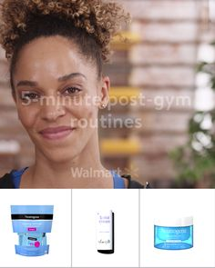 Your post-workout essentials, now available videos for teens Get Ready Women Beauty Care, Beauty Skin, Health And Beauty, Beauty Hacks, Skin Care Routine For 20s, Gym Routine, Hairstyle For Girls Video, Gym Hairstyles, Hairstyles Videos