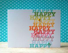 Rainbow Happy Birthday Card by Cristina Kowalczyk for Papertrey Ink (June 2013)