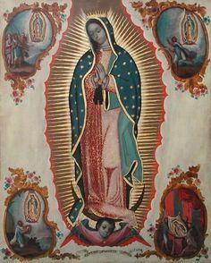 Sebastian Zalcedo (activo 1770s). Virgen de Guadalupe, ca. 1780 (Radica en N.Y. USA) Oleo / lámina de cobre. 69 x 55 cm  Colección Andrés Blaisten.