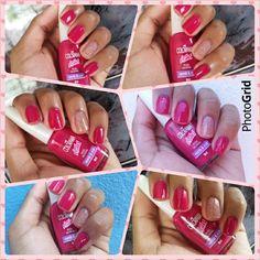 Rosa incrível, colorama #rosa #nails