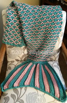 Ravelry: Mermaid Tail Blanket pattern by Jill Harrison