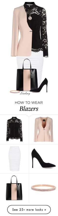 """Giorgio Armani Blazer"" by lindsayd78 on Polyvore featuring Coast, McQ by Alexander McQueen, Gianvito Rossi, Giorgio Armani, Effy Jewelry and Henri Bendel"