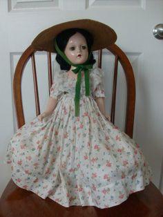 "1940 Madame Alexander Composition 17"" Scarlett O'Hara Doll"