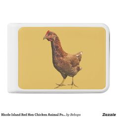 Rhode Island Red Hen Chicken Animal Power Bank