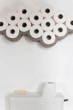 Lyon Beton Concrete Cloud Toilet Roll Shelf - Large, 10 cm w x 74 cm l x 17 cm h, 115 GBP
