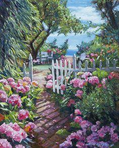 Hydrangea Painting, Hydrangea Bush, Hampton Beach, Impressionist Paintings, All Wall, Garden Paths, The Hamptons, Are You Happy