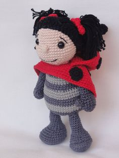 Amigurumi Crochet Pattern - Dotty the Ladybug  This is a crochet pattern and not the toy.  Following this pattern Dotty the Ladybug will be approximately 24cm.  The pattern is available in English.  More photos available on Facebook: https://www.facebook.com/media/set/?set=a.595063720504148.1073741848.550384588305395&type=3 Or check out IlDikko website: http://ildikko-crochet.com  After completion of your order the PDF file containing the pattern can be downloaded immediately from Etsy.  If…